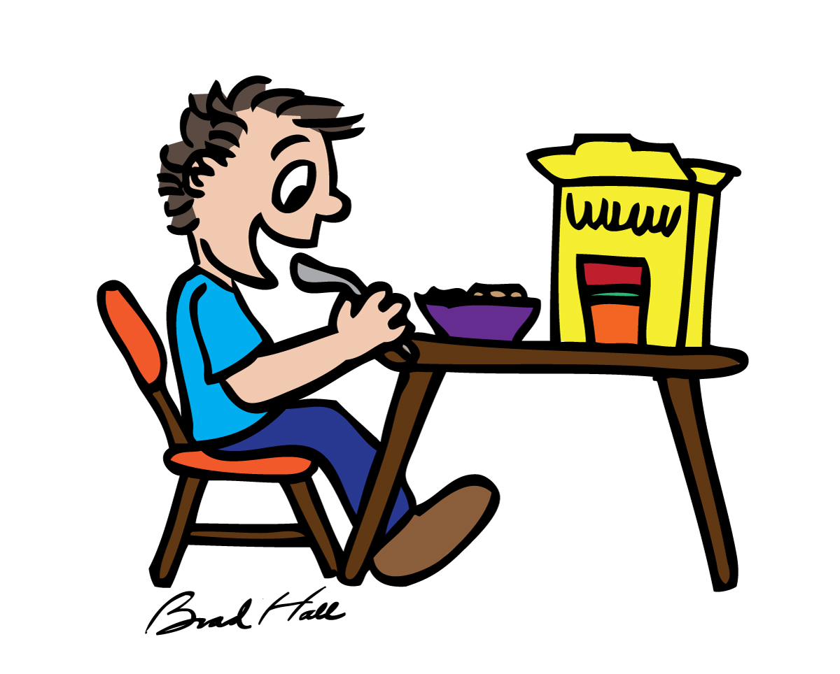 Cereal clipart breakfast time. Cartoon clip art library