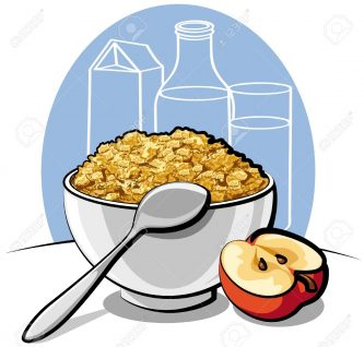 Boy eating free images. Cereal clipart breakfast time