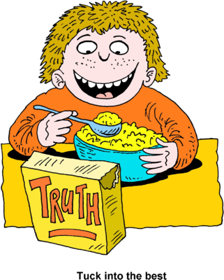 Image boy eating christart. Cereal clipart breakfest