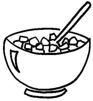 Cereal clipart ceral. Bowl breakfast of free