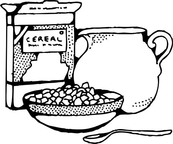 Cereal clipart cereal box. And milk clip art