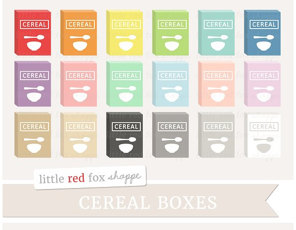 Illustrations creative market . Cereal clipart cereal box