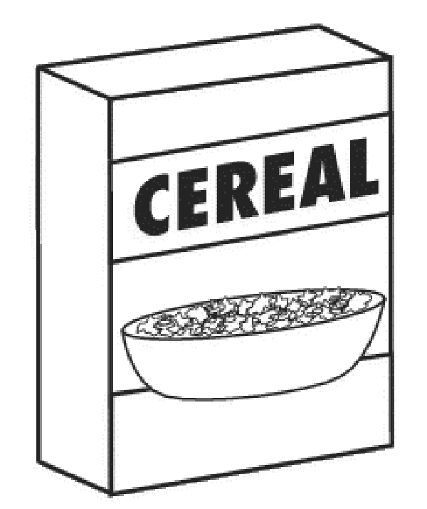 Save your boxes announcements. Cereal clipart cereal box