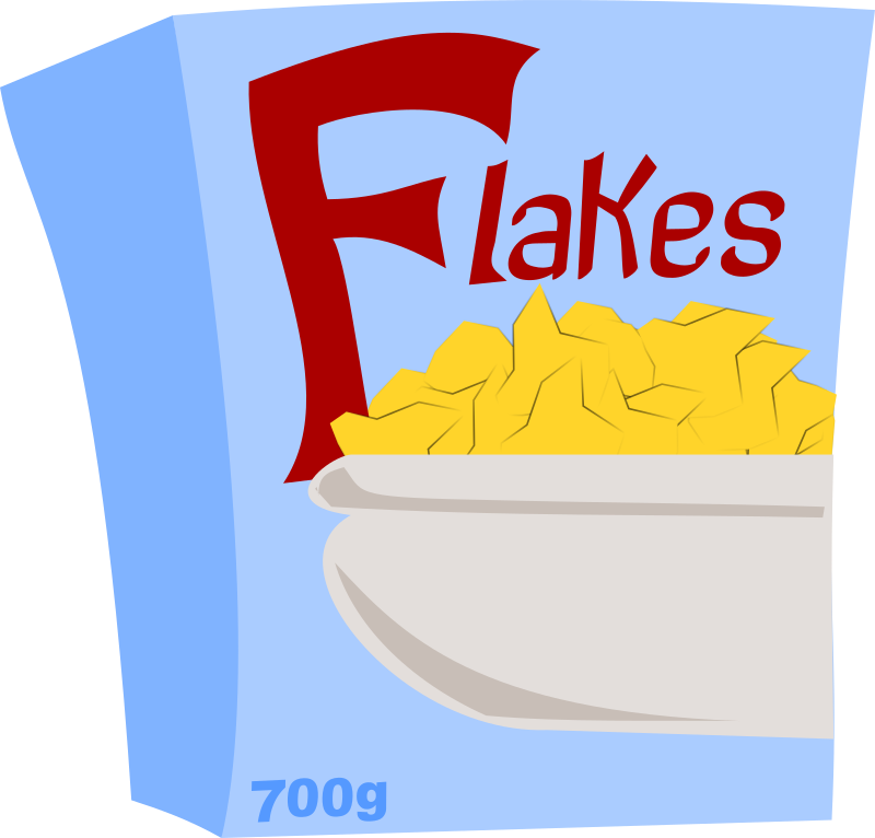 Special flakes medium image. Cereal clipart cereal box