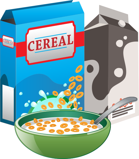 Cereal clipart cereal milk. Aeguana kellogg s vending