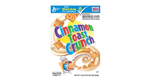 Cinnamon crunch box general. Cereal clipart cereal toast