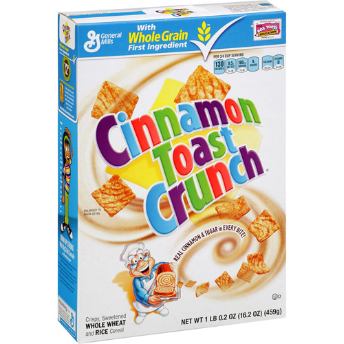 Cinnamon crunch g american. Cereal clipart cereal toast