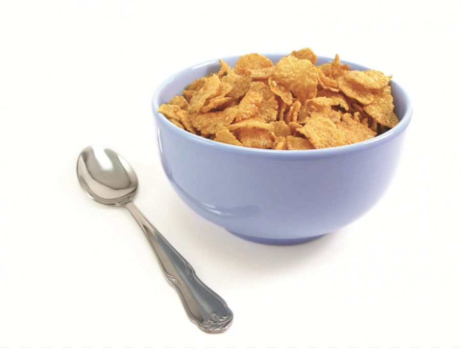 Breakfast corn flakes bowl. Cereal clipart cerial