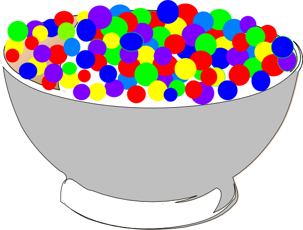 Bowl Of Colorful Cereal Clip Art at Clker