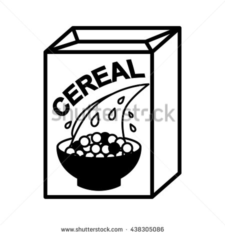 Cereal clipart cerial. Black and white station