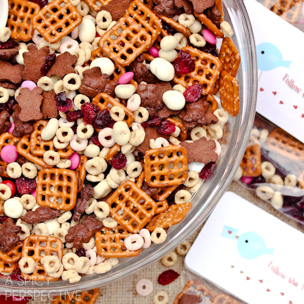 Cereal clipart chex mix. Homemade trail valentine snack