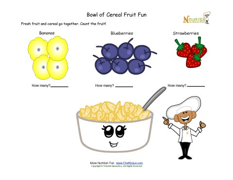 Cereal clipart child. And fruit math fun