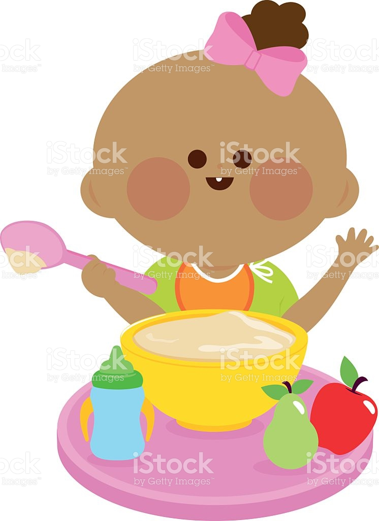 Cereal clipart child. Baby food pencil and
