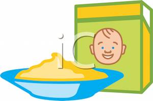 A bowl of baby. Cereal clipart child