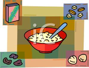 Cereal clipart cold cereal. Bowl of clip art