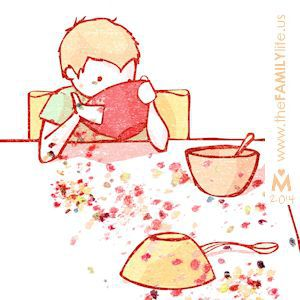 Cereal clipart colorful. Breakfast boy family morning