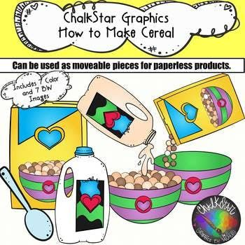 best tpt images. Cereal clipart colorful