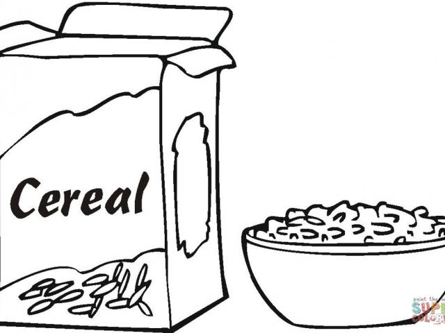 Free on dumielauxepices net. Cereal clipart coloring page