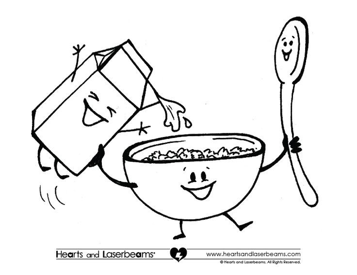 Cereal clipart coloring page. Breakfast sheets google search