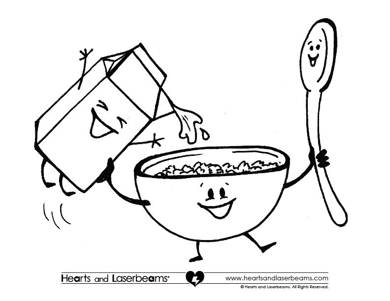 Cereal Coloring Page Clipart