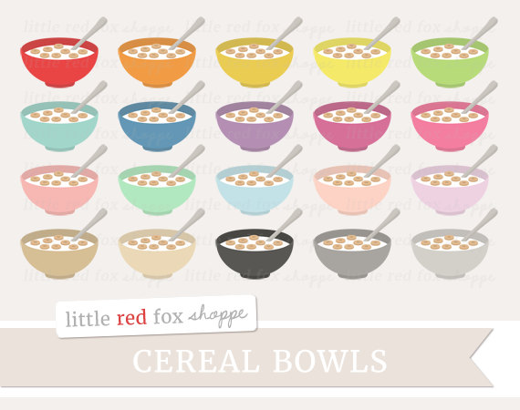Cereal clipart cute. Bowl breakfast clip art