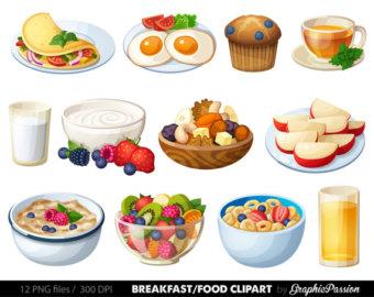 Breakfast emoji kawaii food. Cereal clipart cute