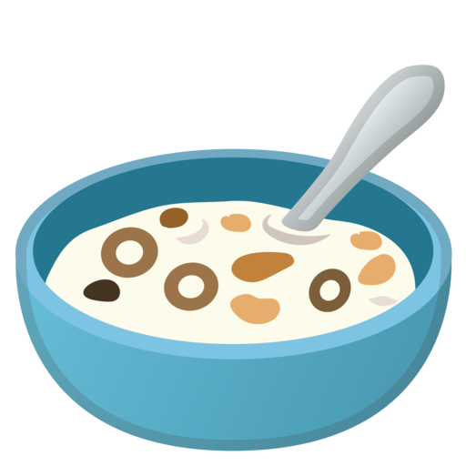 google android oreo. Cereal clipart emoji