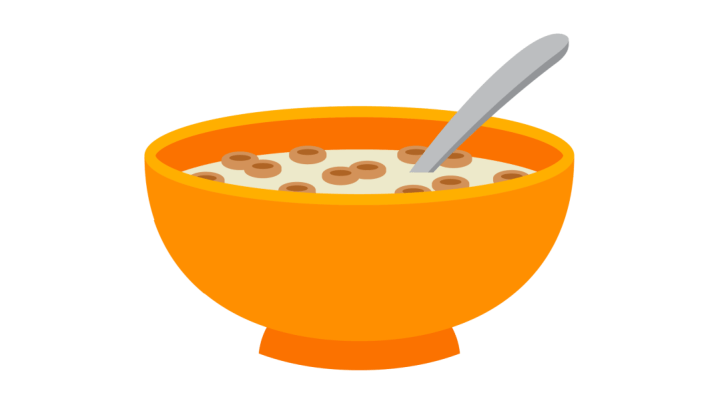 A is coming fix. Cereal clipart emoji