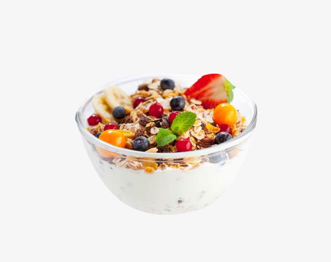 Cereal clipart fruit. Bowl of yogurt lose