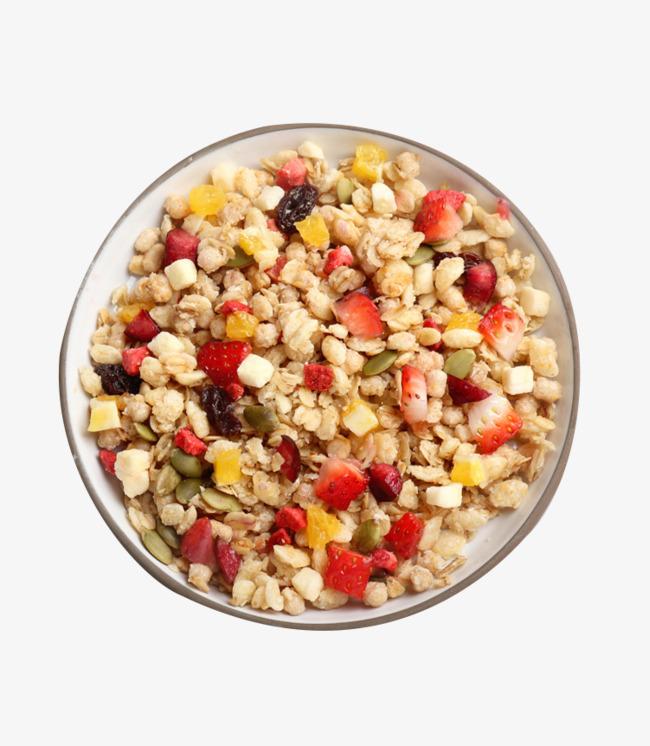 Grain material spherical instant. Cereal clipart fruit