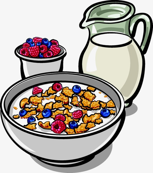 Cereal clipart fruit. Milk with bowl png