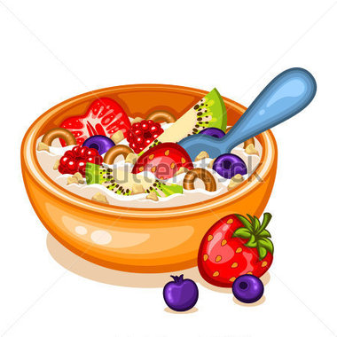 Oatmeal clipart cereal fruit, Oatmeal cereal fruit Transparent ...