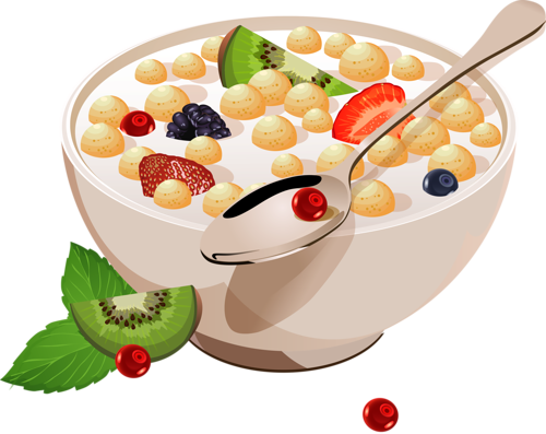 food advertising and. Cereal clipart fruit