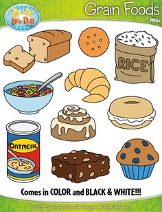 Grains clipart. Grain foods clip art
