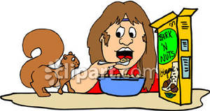 Person eating with a. Cereal clipart healthy cereal
