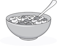 Cereal clipart healthy cereal. Bowl breakfast pencil and