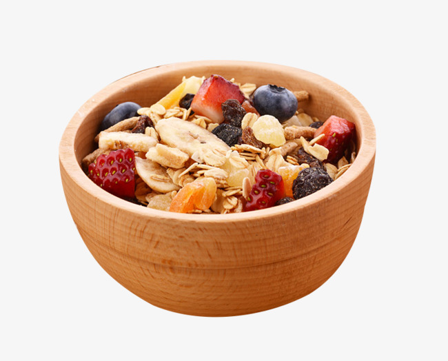 Cereal clipart healthy cereal. The in wooden bowl