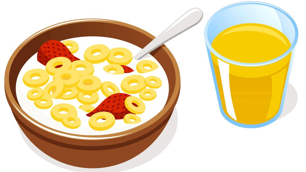 Skipping linked to higher. Cereal clipart morning breakfast