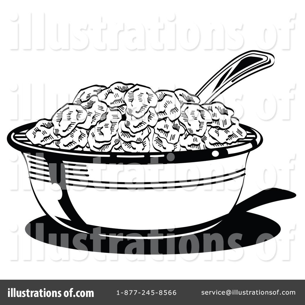 Illustration by andy nortnik. Cereal clipart outline