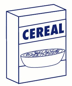 Box drawing at getdrawings. Cereal clipart outline