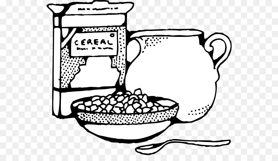 Cereal clipart outline. Breakfast milk corn flakes