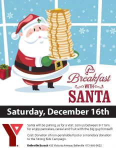 With ymca of central. Cereal clipart santa breakfast