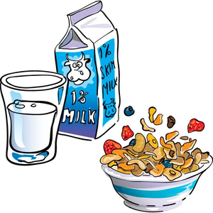 Eating free images at. Cereal clipart santa breakfast