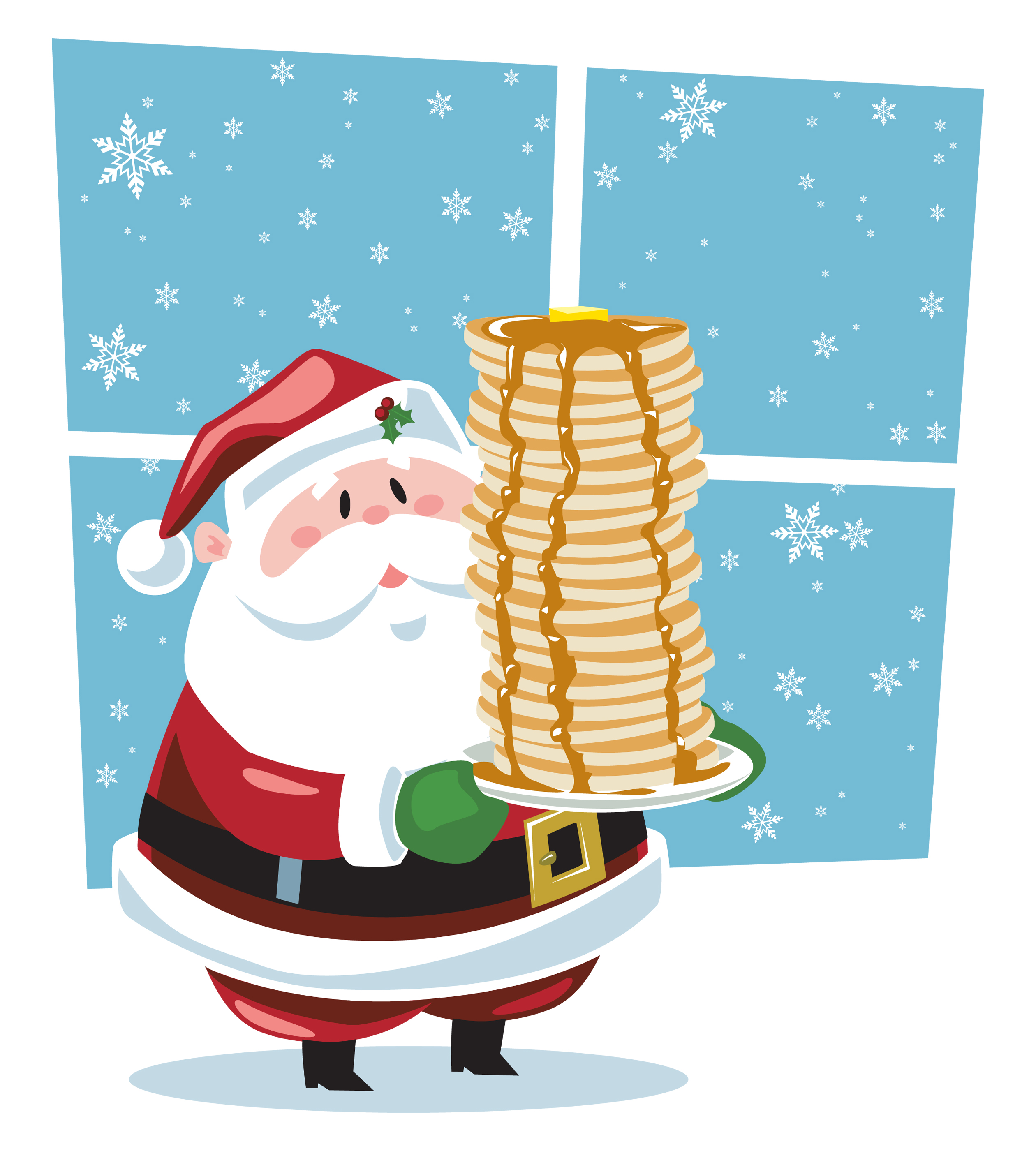 Cereal clipart santa breakfast. With