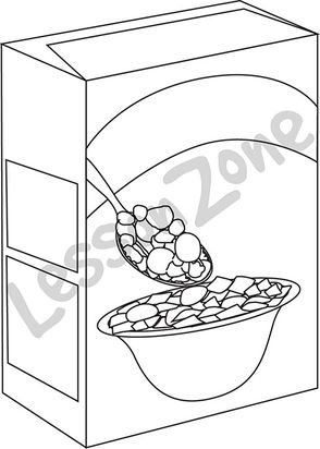 Cereal clipart sketch. Box drawing at getdrawings