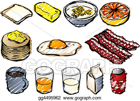 Drawing breakfast gg gograph. Cereal clipart sketch