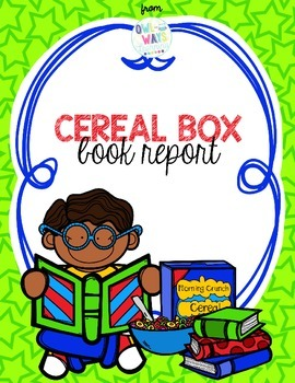 Box book report by. Cereal clipart teacher