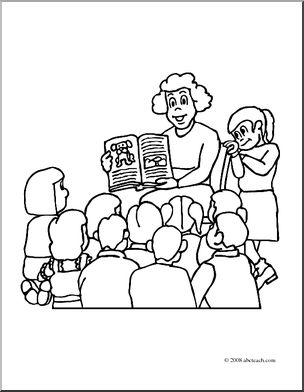 Clip art reading to. Cereal clipart teacher