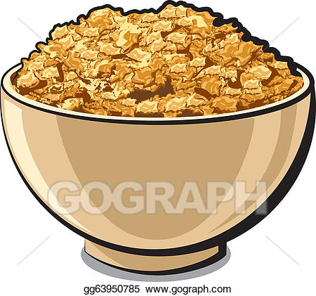 Vector art tasty cornflakes. Cereal clipart yellow