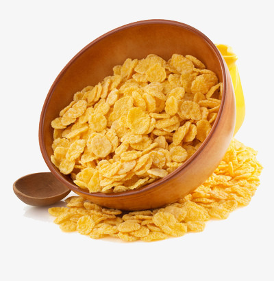 A bowl of breakfast. Cereal clipart yellow